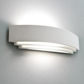 APPLIQUE-IN-GESSO-LAMPADA-A-PARETE-MODERNO-ATTACCO-E27-3-TAGLI-WALL-LIGHT-A-MURO-182356291765