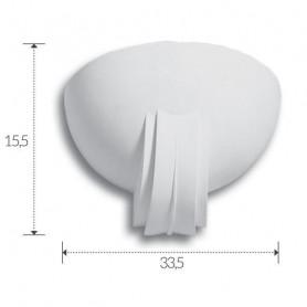 APPLIQUE-IN-GESSO-VERNICIABILE-LAMPADA-DA-PARETE-CON-PORTALAMPADA-E27-ART-A302-172574128512