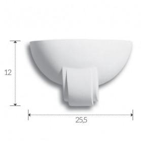 APPLIQUE-IN-GESSO-VERNICIABILE-LAMPADA-DA-PARETE-CON-PORTALAMPADA-E27-ART-A355-172574128635