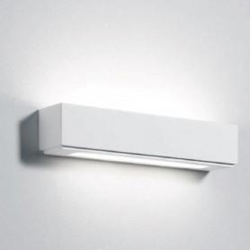 APPLIQUE-IN-GESSO-LAMPADA-A-PARETE-MODERNO-ATTACCO-2-G9-DOPPIO-VETRO-WALL-LIGHT-172411827063