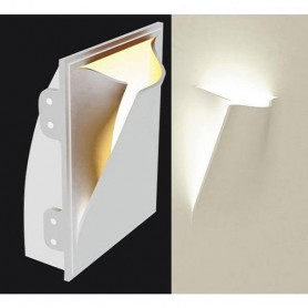 LAMPADA-IN-GESSO-APPLIQUE-MODERNO-CON-PORTALAMPADA-E27-WALL-LIGHT-A-MURO-PARETE-172411869982
